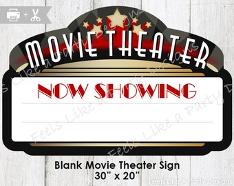 Movie Theater Sign - DIY Instant Download