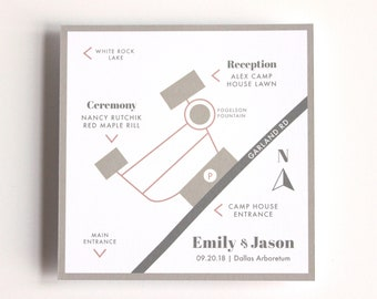 Customized Wedding Map Cards - Digital Printable