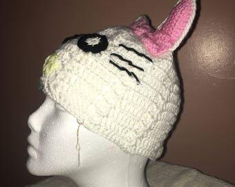 White Cat Beanie