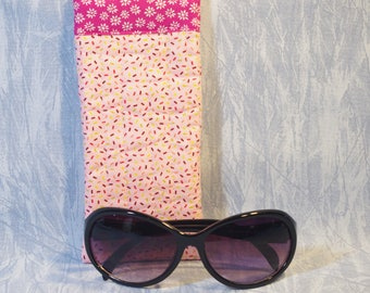 Quilted Eyeglass Case in Pink