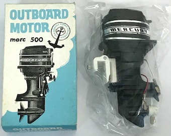 IKEHAEFER MERCURY merc 500 Toy Outboard motor New Old Stock Rare Free shipping for display