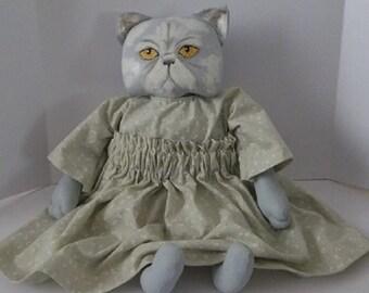 SALE, Made To Order,Personalized Pet Art,Custom Pet Art,Cat,Folk Art Doll,Art Doll,Primitive Art Doll,Folk Art Cat,Cat Doll,Primitive Doll
