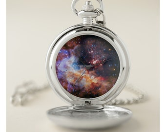 Westerlund Starfield Pocket Watch - Silver or Gold Cases Available!