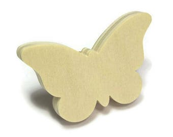 Drawer handle child to paint wood Butterfly