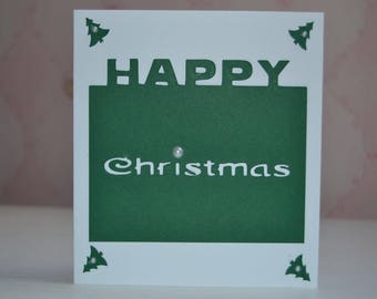 Happy Christmas merry Christmas greeting card