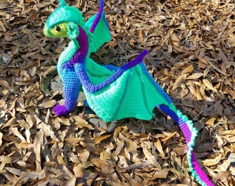 Crocheted Dragon, poseable  Made to Order