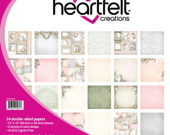 "Heartfelt Creations Classic Wedding Paper Collection 12"" x 12"" HCDP1-279"