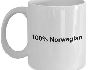 Norwegian Mug - 100% Norwegian - Norway -  Coffee Mug - Unique Gift