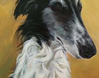 Pet Portrait: Borzoi  12 x 16