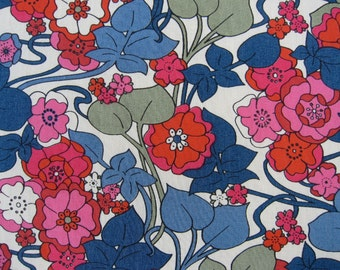 BOXFORD 1.00 METRE by LIBERTY on Tana Lawn Cotton in  Reds & Greens, Pinks ect