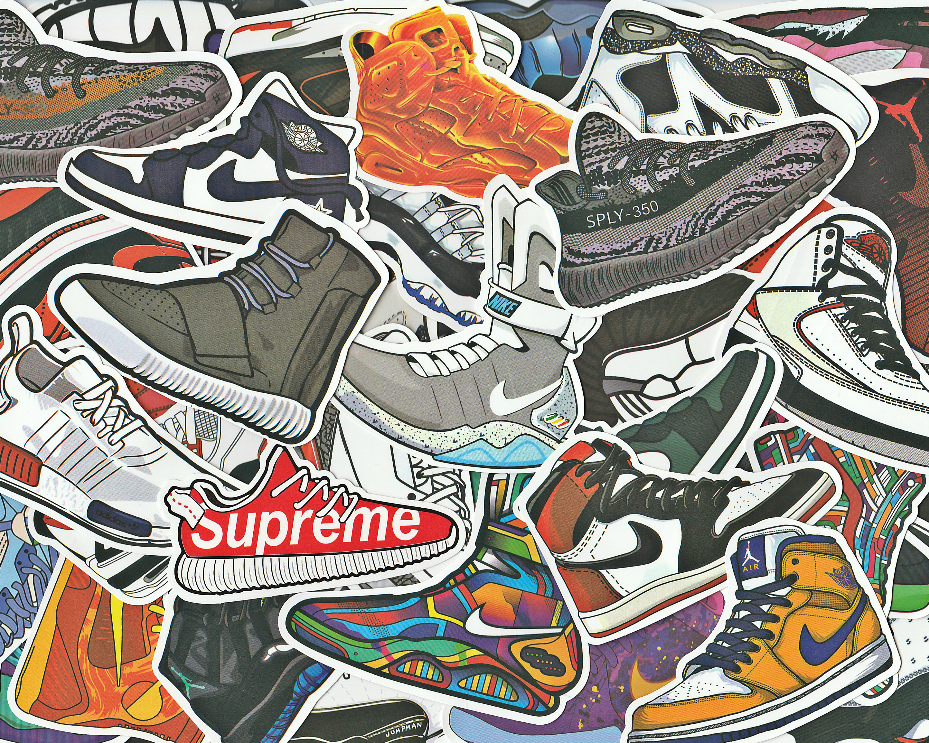 Sticker bombing sticker pack bright hypebeast stickers from