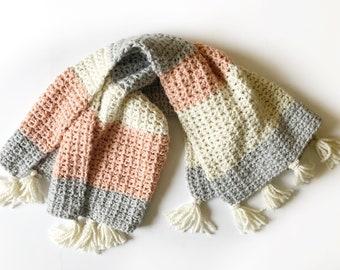 Crochet Modern Mesh Stitch Blanket Pattern