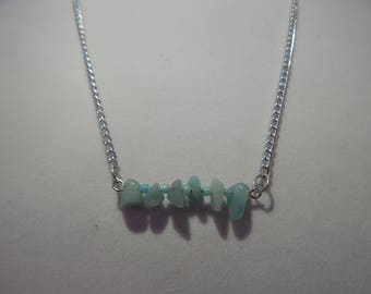Amazonite Bar Necklace   Amazonite Necklace   Gemstone Necklace
