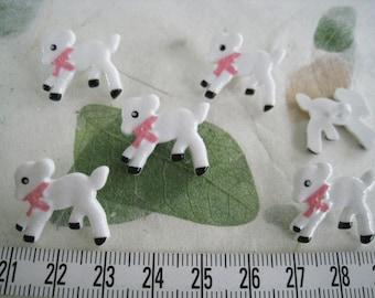 22 pcs of Little White Lamb Button