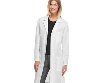 Cherokee 40 inch long lab coat White coat Large size coat Personalize Lab Coat Lab Coat Costume Lab Coat Men Women Lab Coat Lab Coats