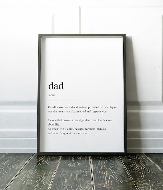 gift for dad dad definition print fathers day present