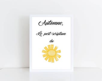 A4 print - Autumn p.s. - quote