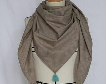 Model unique camel scarf geometric tassels handmade