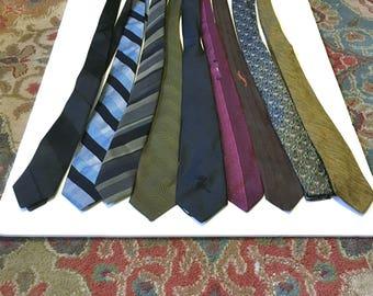 9 Skinny Necktie Tie Lot Vintage Skinny Tie Lot Countess Mara