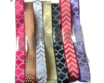 lot of 7 satin ribbons + 6 meters