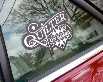 Car Decal for Quilters
