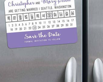 Modern Calendar - Magnet - Save the Date + Envelopes