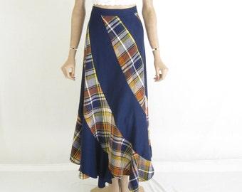 Vintage 70's Wool Boho Maxi Skirt