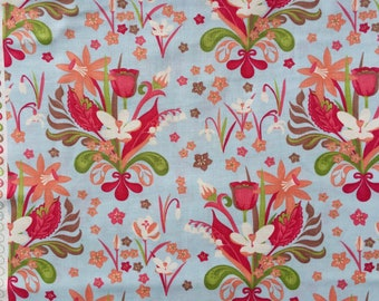 Verna Kate Spain floral pale blue moda fabrics FQ or more