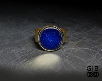Royal Blue Ring Twinkle Sky Ring - Twinkle Jewelry Adjustable Ring - Royal Blue Jewelry Ring - Royal Blue Ring Jewelry - Twinkle Sky Ring