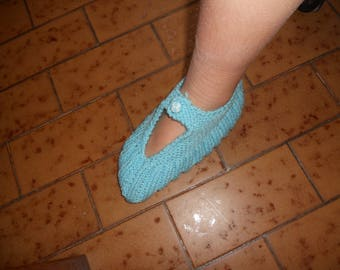 Slippers evening or night with acrylic yarn