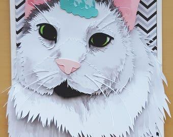 Personalized Custom Paper Art / Birthday Card