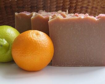 Goats Milk Citrus Soap, All Natural Soap, Handmade Soap, Bath Soap, Cold process Soap, Artisan Soap, New Hampshire Soap, Bar Soap, Hand Soap