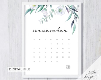 november 2018 printable pregnancy baby announcement calendar social media flat lay photo prop due date save