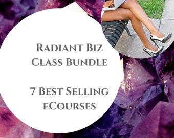 Radiant Living Biz eCourse Bundle. Audios and PDF Guide . Coaching. Social Media. Sales. Marketing. Entrepreneurship.
