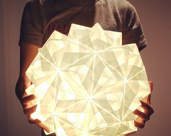 Handmade, Modern, Origami-inspired Lamp/Lighting (16 in.)