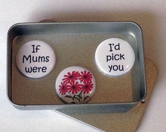 Mothers Day / Magnet Gift Set / Mums & Flowers / Mum Gift / Mom Gift / Card Alternative / Handmade / Keepsake