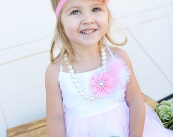 Pink headband, Baby headbands, Flower headband, Pearl headband, Prom headband, Easter Headband ,baby girl headband.