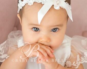 Scarlett Baby Headband, Lace Baby Headband