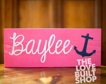 Personalized Gift For Her | Custom Nautical Name Sign Handmade Wooden Wall Decor | Gift For Her | Nursery Gift | Baby Gift