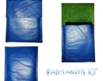 SpecialFilters housse etui pochette  cuir buffle bleu vintage recyclé pour Ipads et TABLETTES 10 pouces