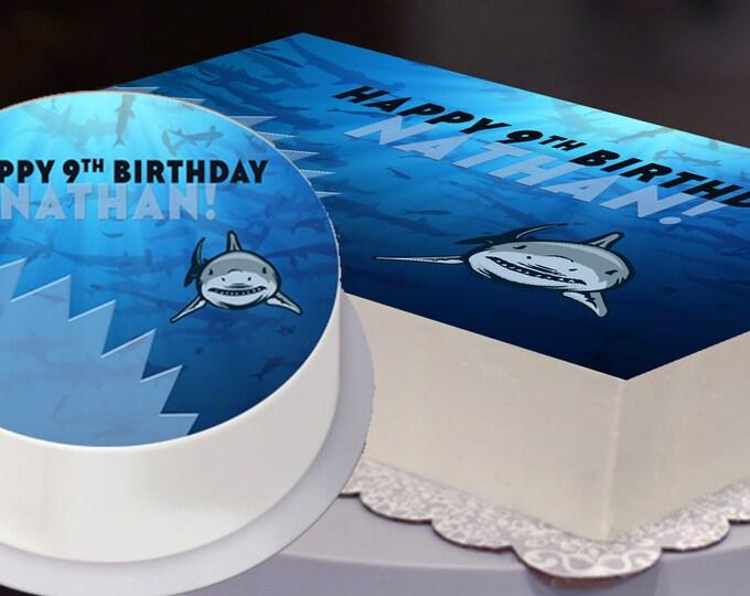 Shark Party Edible Cake Topper, Shark Party Cake Topper, Shark Birthday, Shark Attack, Shark Attack Birthday