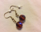 Faceted amber earrings, G...