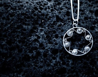 The Sea - Icelandic Filigree Necklace - Silver Iceland