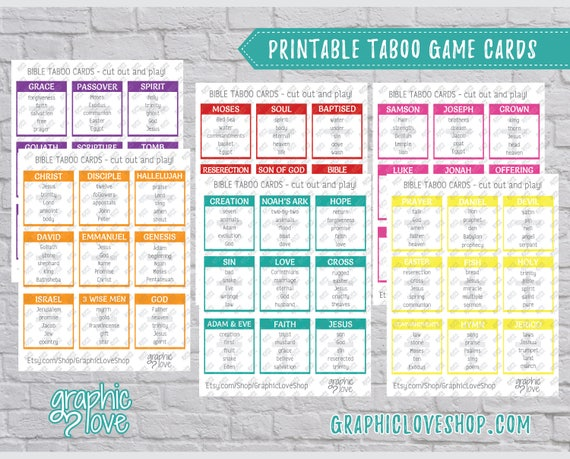 Enterprising image inside taboo game cards printable