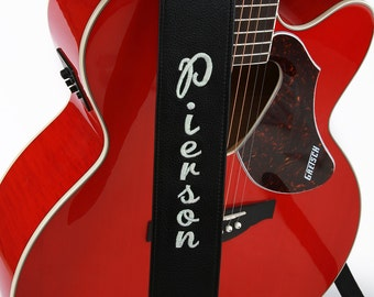 Personalized (Embroidered) Leather Guitar Strap