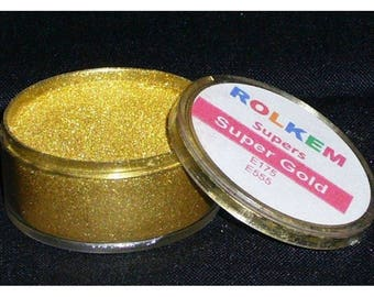 ROLKEM GOLD SUPER 10ml Edible Lustre Metallic Dust Icing Color Gold Highliter Luster Dust Super Gold Edible Food Color Edible Gold Dust