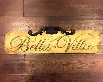 Hand Painted Italian Inspired Sign
