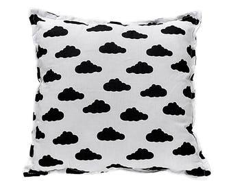 Pillow Square - Black Clouds
