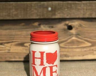 Home is where the heart is mason jar