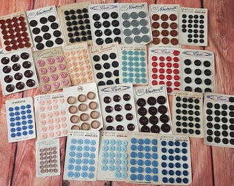 Assorted Vintage French Buttons on Original Cards lot of approx 50 cards